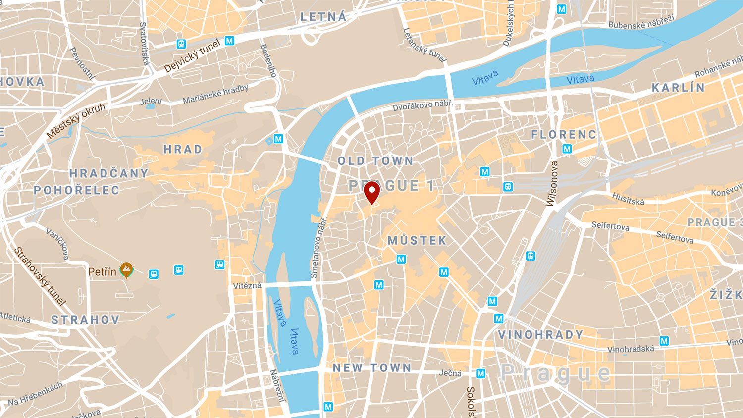 Map of NC State's European Center in Prague