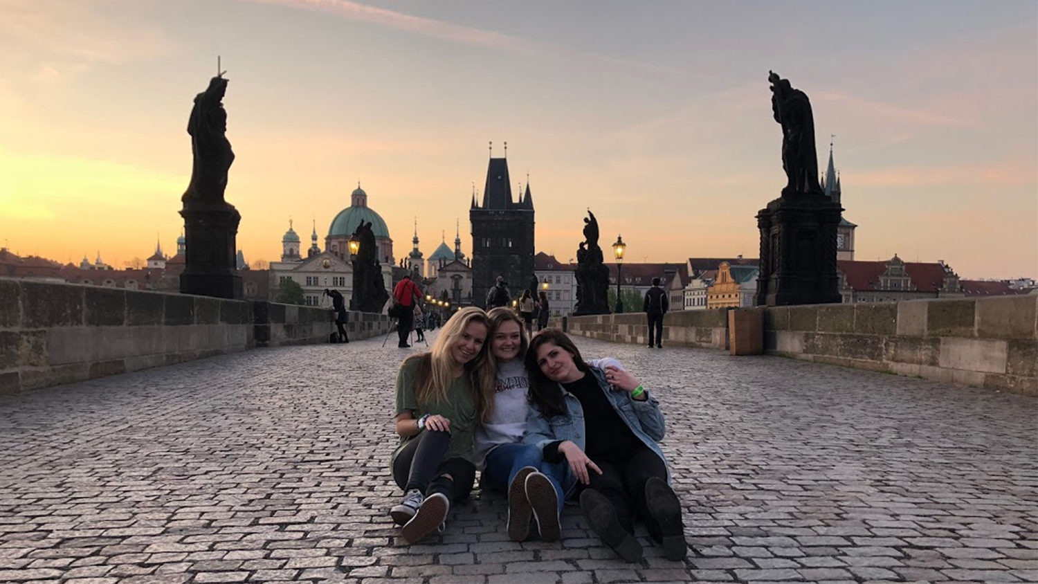 Students on Charles Bridge